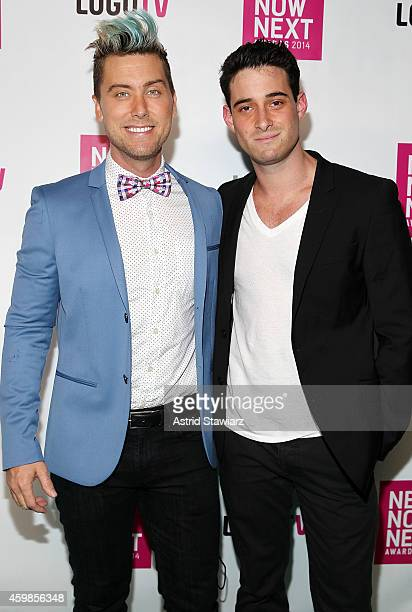 Lance Bass and Michael Turchin attend Logo TV's 2014 NewNowNext Awards at the Kimpton Surfcomber Hotel on December 2, 2014 in Miami Beach, Florida.