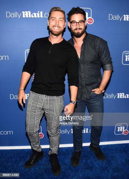 Lance Bass and Michael Turchin attend the DailyMailcom DailyMailTV Summer Party at Tom Tom on July 11 2018 in West Hollywood California