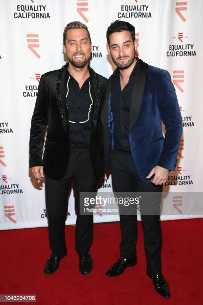 Lance Bass and Michael Turchin attend the Equality California 2018 Los Angeles Equality Awards at JW Marriott Los Angeles at LA LIVE on September 29...