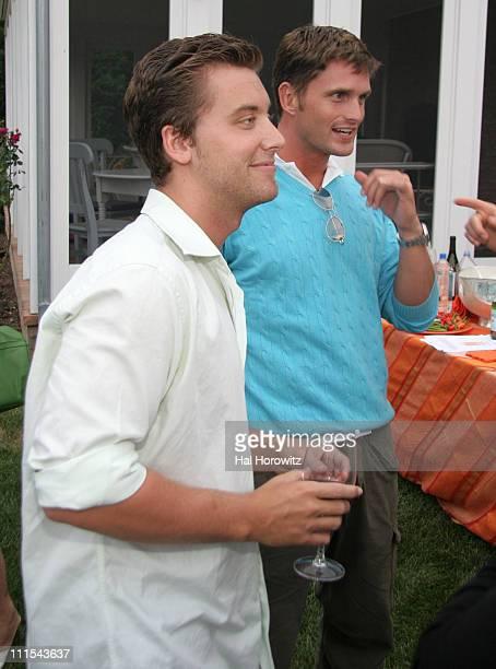 Lance Bass and Reichen Lehmkuhl during Lorraine Bracco's Wine Tasting Event - August 19, 2006 at 468 Butter Lane in Bridgehampton, New York, United...