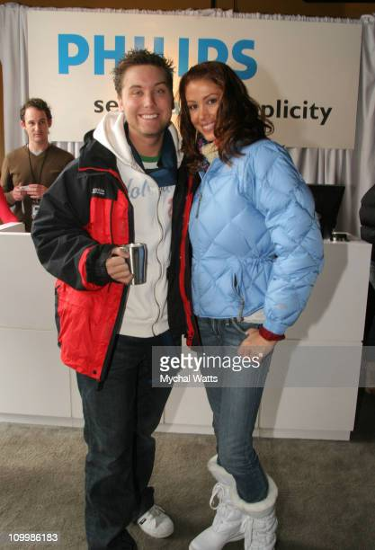 Lance Bass and Shannon Elizabeth at Philips during 2006 Park City Philips Lounge at Village at the Lift Day 3 at Village at the Lift in Park City...