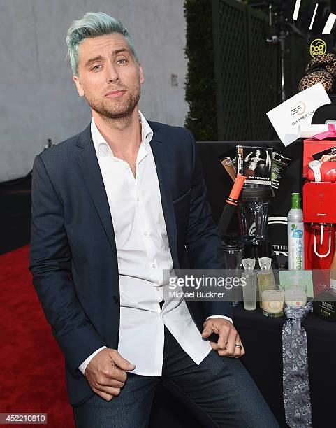 Lance Bass arrives at the ESPN's BODY at ESPY's PreParty at Lure on July 15 2014 in Hollywood California