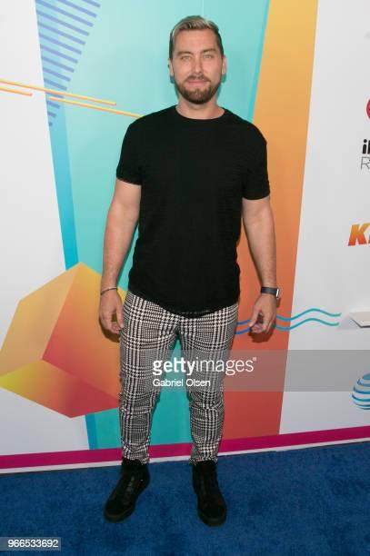 Lance Bass arrives for iHeartRadio's KIIS FM Wango Tango By ATT at Banc of California Stadium on June 2 2018 in Los Angeles California