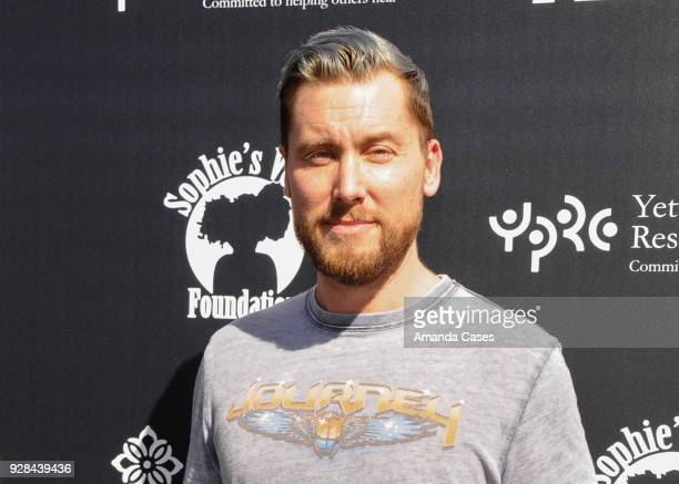 Lance Bass arrives to The 14th Annual Desert Smash Celebrity Tennis Event on March 6 2018 in La Quinta California