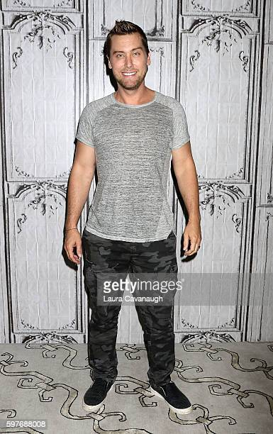 Lance Bass attends AOL Build Presents Lance Bass 'Prince Charming' Robert Sepulveda at AOL HQ on August 29 2016 in New York City
