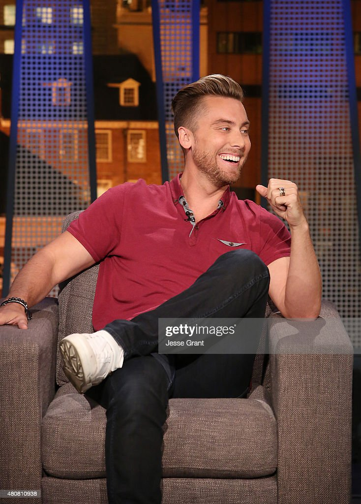 Lance Bass attends 'The Josh Wolf Show' on July 15, 2015 in Los Angeles, California.