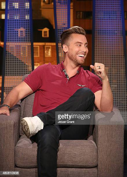 Lance Bass attends The Josh Wolf Show on July 15 2015 in Los Angeles California
