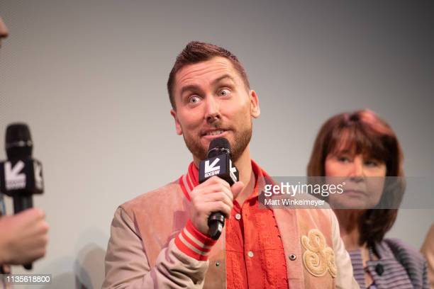 Lance Bass attends the The Boy Band Con The Lou Pearlman Story Premiere 2019 SXSW Conference and Festivals at Paramount Theatre on March 13 2019 in...