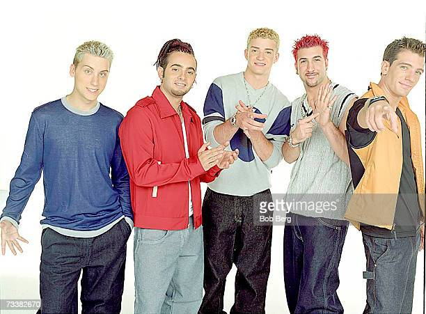 *NSYNC Lance Bass Chris Kirkpatrick Justin Timberlake Joey Fatone and JC Chasez tpose for a August 1999 portrait in Los Angeles California
