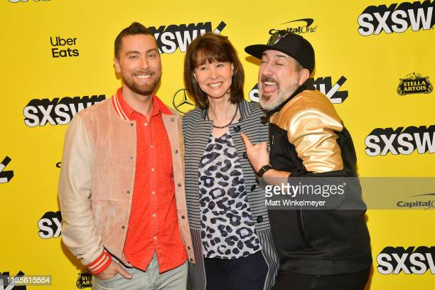 Lance Bass Diane Bass and Joey Fatone attend the The Boy Band Con The Lou Pearlman Story Premiere 2019 SXSW Conference and Festivals at Paramount...