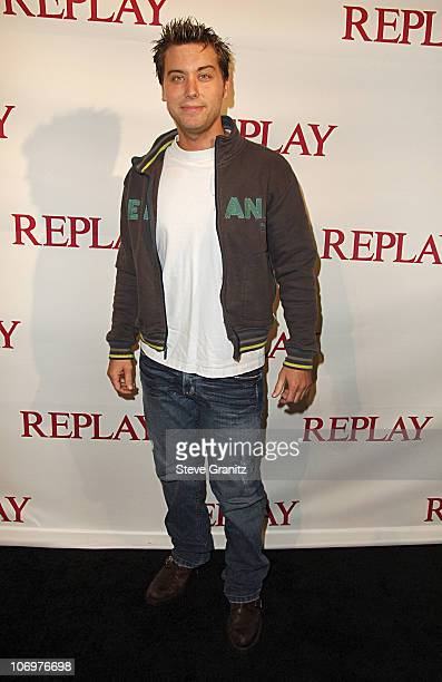 Lance Bass during Brandon Davis and Italian Clothing Brand Replay Celebrate the Opening of Their Los Angeles Store Arrivals at Falcon in Los Angeles...