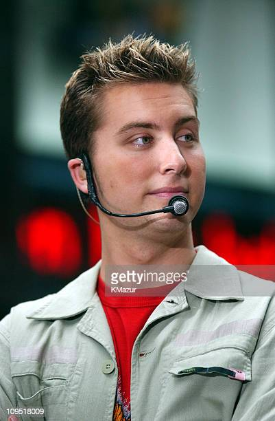 Lance Bass during *NSYNC Performs on 'The Today Show' Summer Concert Series August 20 2001 at NBC Studios in New York City New York United States