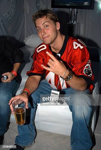 Lance Bass during Sony Playstation 2 Game Over Party after the Super Bowl at W Hotel in San Diego California United States
