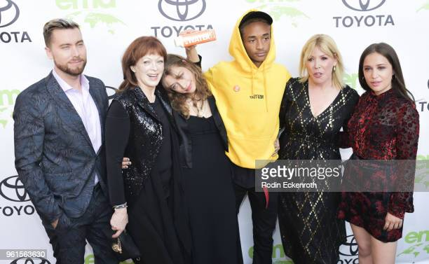 Lance Bass Francis Fisher Odessa Adlon Jaden Smith Debbie Levin and Rockie Adlon attend the 28th Annual EMA Awards Ceremony at Montage Beverly Hills...