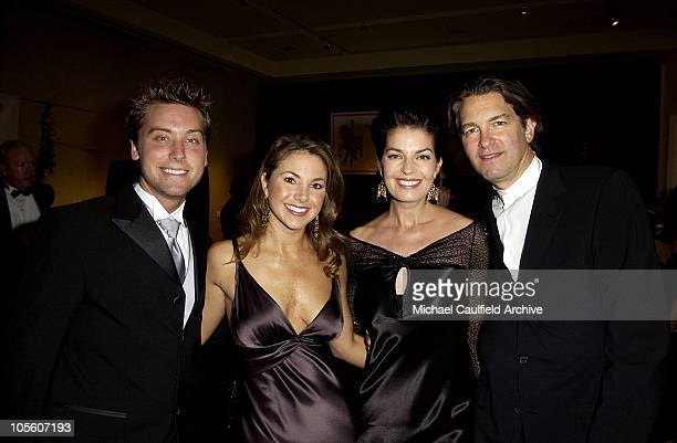 Lance Bass guest Sela Ward and Howard Sherman during Mercedes Benz Presents the 16th Annual Carousel Of Hope Gala VIP Reception at Beverly Hilton...