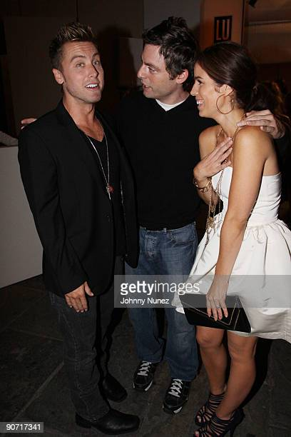 Lance Bass Justin Kirk and America Ferrara attend the QVC Style Live celebration during MercedesBenz Fashion Week Spring 2010 at Bryant Park on...
