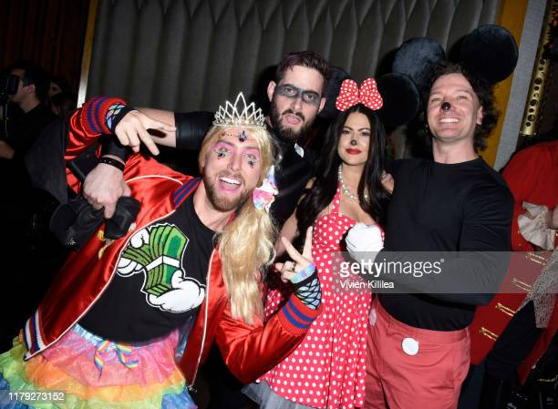Lance Bass Michael Turchin Kathryn Smith and JC Chasez attend Podwall Entertainment's 10th Annual Halloween Party presented by Maker's Mark on...