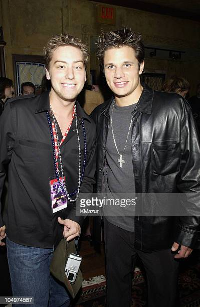 Lance Bass of 'N Sync and Nick Lachey of 98 Degrees