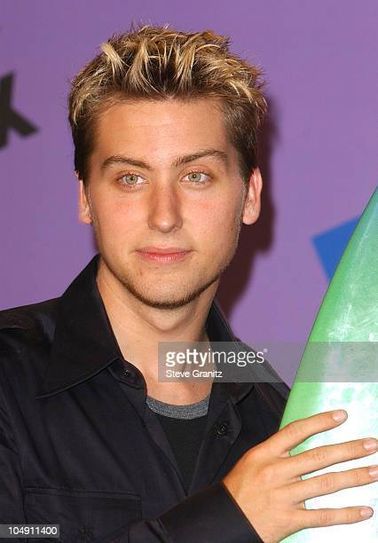 Lance Bass of NSYNC during The 2001 Teen Choice Awards Press Room at Universal Amphitheater in Universal City California United States