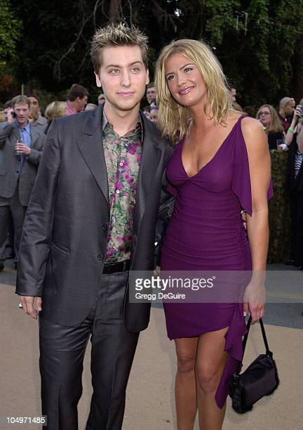 Lance Bass of Nsync Kristy Swanson during HBO Networks Band Of Brothers Hollywood Premiere at The Hollywood Bowl in Hollywood California United States