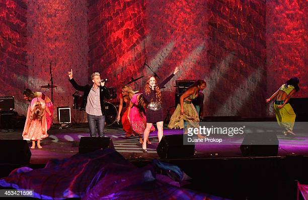 Lance Bass performs during the opening ceremony of the Gay Games 2014 at Quicken Loans Arena on August 9 2014 in Cleveland Ohio