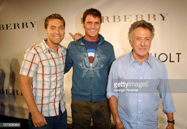 Lance Bass Reichen Lehmkuhl and Dustin Hoffman during 31st Annual Toronto International Film Festival Holt Renfrew Presents Burberry at the Toronto...