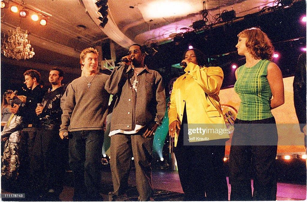 Lance Bass, Sean 'Puffy' Combs, Kenan Thompson & Britney Spears