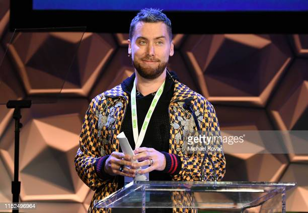 Lance Bass speaks onstage at the EMA IMPACT Summit Day One at Montage Beverly Hills on May 29 2019 in Beverly Hills California