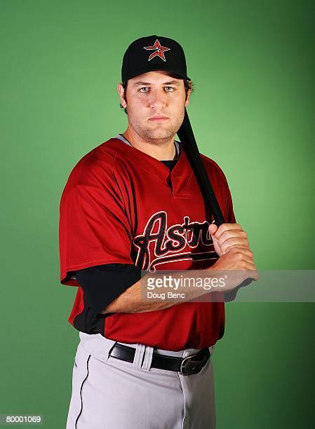 Lance Berkman of the Houston Astros poses during Spring Training Photo Day at Osceola County Stadium on February 25 2008 in Kissimmee Florida