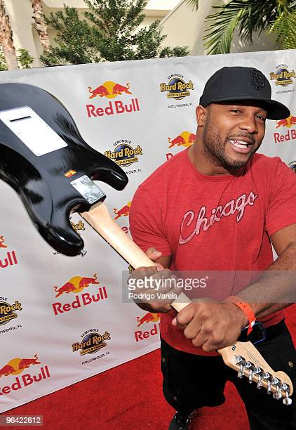Lance Briggs of the Chicago Bears attends the Red Bull Super Pool at Seminole Hard Rock Hotel on February 4 2010 in Hollywood Florida