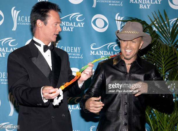 Lance Burton and Mark Miller of Sawyer Brown during 38th Annual Academy of Country Music Awards Press Room at Mandalay Bay Events Center in Las Vegas...