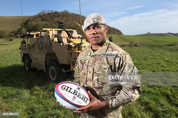 Lance Corporal Semesa Rokoduguni of the Royal Scots Dragoon Guards who will make his full international debut for England against the New Zealand All...