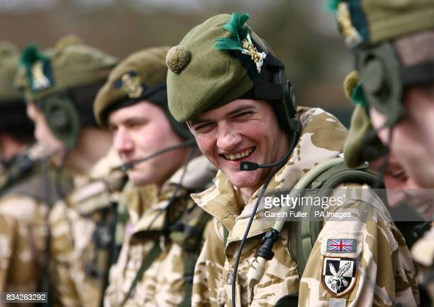 Lance Corporal William Hart of the Argyll and Sutherland Highlanders 5th Battalion The Royal Regiment of Scotland at Howe Barracks in Canterbury Kent...