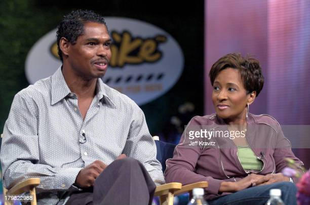 Lance Crouther and Wanda Sykes during MTV Networks TCA July 23 2004 at Century Plaza in Los Angeles California United States