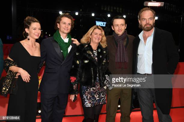 Lance Daly and Hugo Weaving with guests attend the 'Black 47' premiere during the 68th Berlinale International Film Festival Berlin at Berlinale...