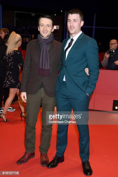Lance Daly and James Frecheville attend the 'Black 47' premiere during the 68th Berlinale International Film Festival Berlin at Berlinale Palast on...