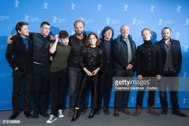 Lance Daly James Frecheville Barry Keoghan Hugo Weaving Sarah Greene Stephen Rea Jim Broadbent Freddie Fox and Moe Dunford poses at the 'Black 47'...