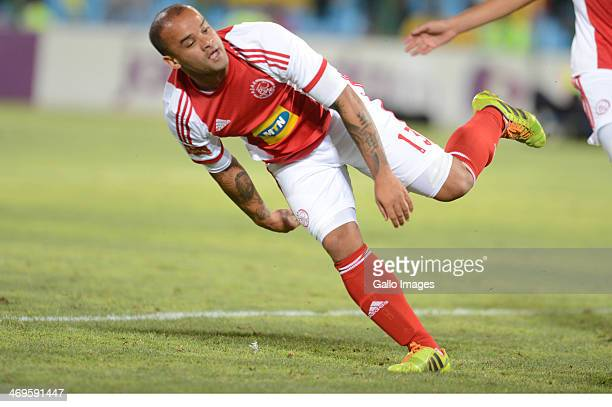 Lance Davids during the Absa Premiership match between Mamelodi Sundowns and Ajax Cape Town at Loftus Stadium on February 15 2014 in Pretoria South...