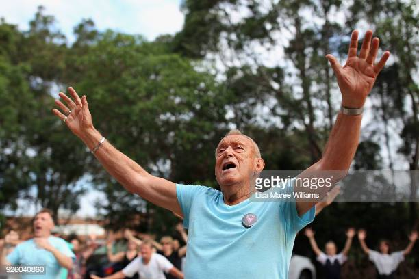 Lance Day and fellow 78ers dance during Mardi Gras rehearsals on March 1 2018 in Sydney Australia The Sydney Mardi Gras parade began in 1978 as a...