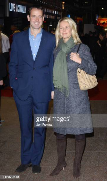 Lance Gerrard Wright and Ukrika Jonsson during Love Actually London Premiere Arrivals at The Odeon Leicester Square in London United Kingdom