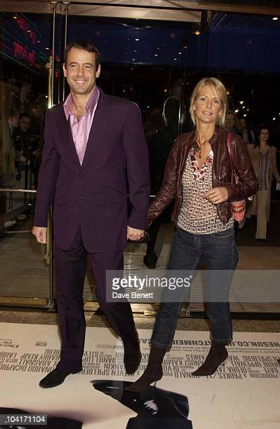 Lance Gerrard Wright Ulrika Jonsson Catch Me If You Can Movie Premiere Held At The Empire Cinema In Leicester Square London