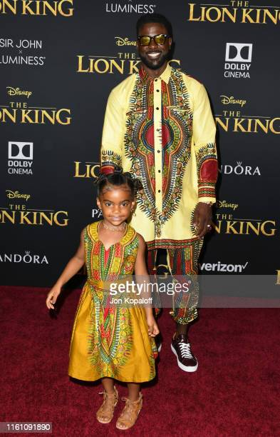 Lance Gross and Berkeley Gross attend the Premiere Of Disney's The Lion King at Dolby Theatre on July 09 2019 in Hollywood California