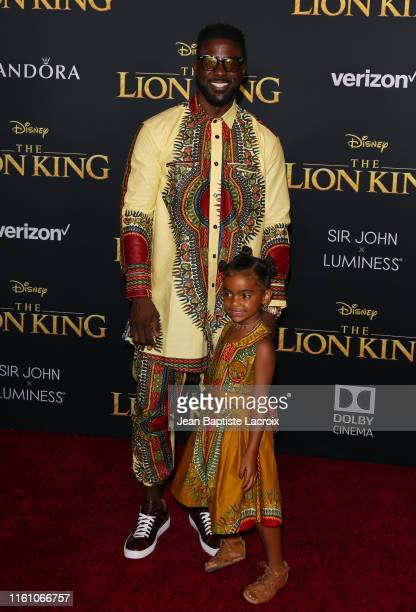 Lance Gross and Berkeley Gross attends the premiere of Disney's The Lion King at Dolby Theatre on July 09 2019 in Hollywood California