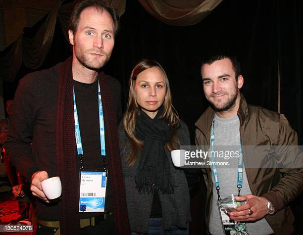 Lance Hammer Nicole Quaid andMartin Marquet attends the Competition Dinner at The Shop during the 2008 Sundance Film Festival on January 22 2008 in...