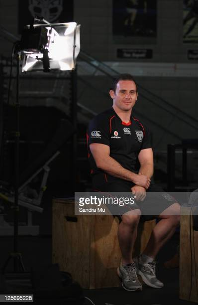 Lance Hohaia poses during a New Zealand Warriors NRL media session at Mt Smart Stadium on September 21 2011 in Auckland New Zealand