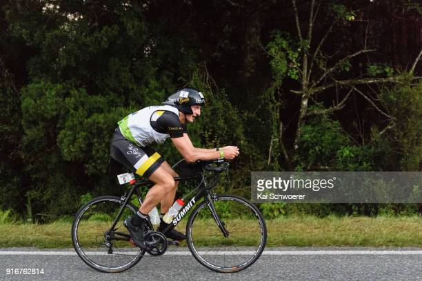 Lance Kime of South Africa competes in the cycling stage of the 1 day individual competition during the Kathmandu Coast to Coast on February 10 2018...
