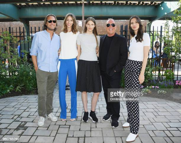 Lance Le Pere Alana Zimmer Silke Van Daal and Michael Kors attend as Michael Kors and the New York Restoration Project Celebrate The Opening Of The...