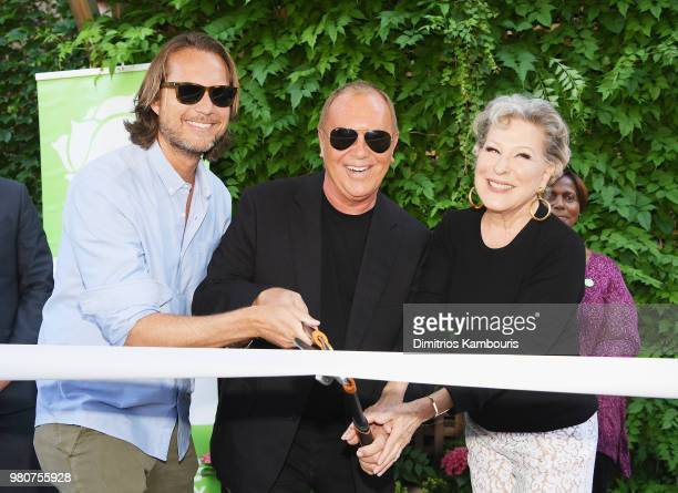 Lance Le Pere Michael Kors and Bette Midler attend as Michael Kors and the New York Restoration Project Celebrate The Opening Of The Essex Street...