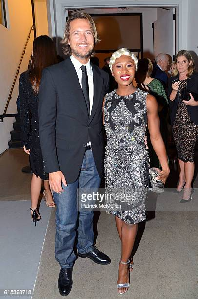 Lance LePere and Cynthia Erivo attend The 10th Annual Golden Heart Awards Celebration on October 17 2016 in New York City