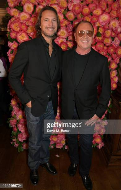 Lance LePere and Michael Kors attend a private dinner hosted by Michael Kors to celebrate the new Collection Bond St Flagship Townhouse opening on...